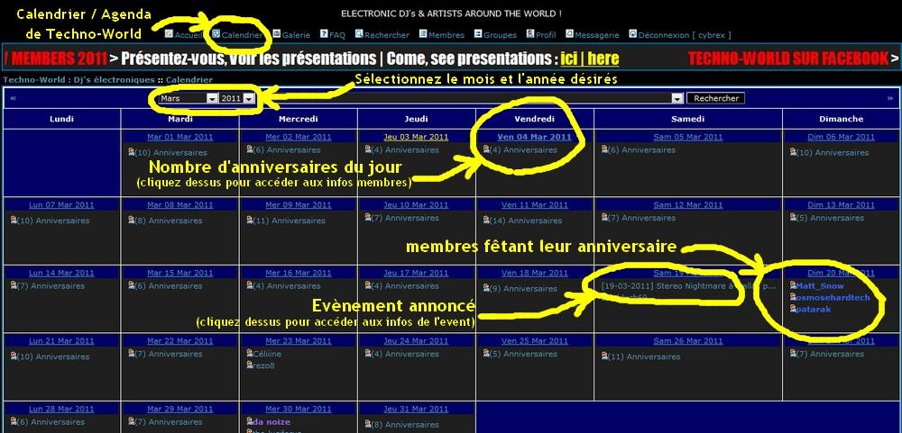Calendrier | Agenda Techno-World Guide__calendrier